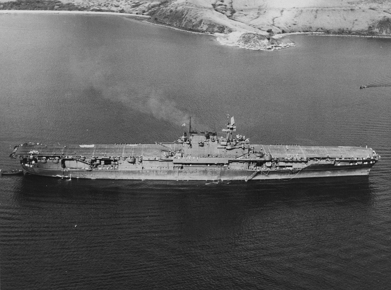 File:USS Enterprise (CV-6) at Noumea, New Caledonia, 10 ...