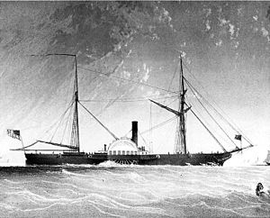 USS Fulton (1837) - Image: USS Fulton (1837) after 1851 reconstruction