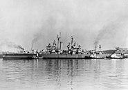 USS Galveston (CL-93) at Cramp shipyard 1946
