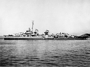 USS Hale (DD-642) off the Mare Island Naval Shipyard, California (USA), on 8 February 1945