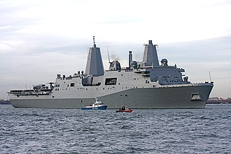 USS New York (LPD-21) - Image: USS New York in the Hudson River 200911