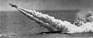 Submarine-launched cruise missile - USS ''Tunny'' launching a Regulus I in 1958