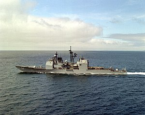 USS Valley Forge (CG-50) underway off the coast of San Diego on 4 April 1987 (6429623).jpg