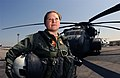 US Navy 030929-N-4943L-001 Lt. Bibianna Danko stands in front of an MH-53E Sea Dragon.jpg