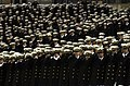 US Navy 031206-N-9693M-027 The U.S. Naval Academy Brigade of Midshipmen salutes during the playing of the National Anthem prior to the 104th playing of the Army Navy game.jpg