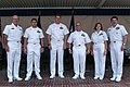 US Navy 040722-N-2383B-128 The Navy's Sailors of the Year pose for a photo with Chief of Naval Operations (CNO), Adm. Vern Clark, far left, and Master Chief Petty Officer of the Navy (MCPON), Terry Scott, far right.jpg