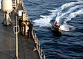 US Navy 060127-N-9860Y-396 Members of the amphibious command ship USS Blue Ridge (LCC 19) Force Protection Team and embarked Marine Fleet Antiterrorism Security Team (FAST) train.jpg