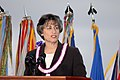 US Navy 061207-N-4965F-028 The Honorable Linda Lingle, Governor of the State of Hawaii, delivers her comments during a joint U.S. Navy-National Park Service ceremony commemorating the 65th Anniversary of the attack on Pearl Har.jpg