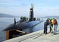 US Navy 071124-N-0780F-003 assist with mooring operations as the Los Angeles-class nuclear-powered submarine USS Montpelier (SSN 765) arrives pierside in Souda Harbor for a routine port visit.jpg