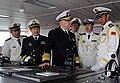 US Navy 090420-N-8273J-179 Chief of Naval Operations (CNO) Adm. Gary Roughead receives a tour of the bridge aboard the People's Liberation Army Navy type 920 hospital ship Daishandao (AHH 866) while visiting with senior PLA nav.jpg