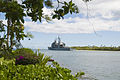 US Navy 100706-N-6674H-010 he Ticonderoga-class guided-missile cruiser USS Chancellorsville (CG 62) departs Joint Base Pearl Harbor-Hickam to participate in Rim of the Pacific (RIMPAC) 2010 exercises.jpg
