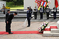 US Navy 101027-N-7590D-046 Minister for Foreign Affairs of Japan Seiji Maehara bows during a wreath laying ceremony at the National Memorial Cemete.jpg
