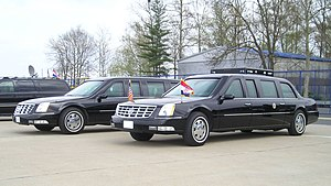 2005 Cadillac DTS Presidential State Car - Identical Presidential State Cars at Zagreb Airport during the visit of president George W. Bush to the Republic of Croatia