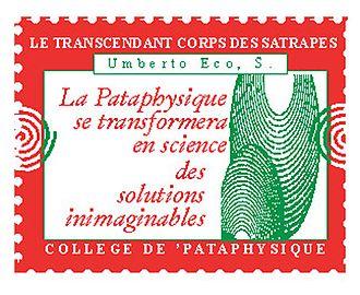 Umberto Eco - Image: Umberto Eco timbre du Collège de 'Pataphysique