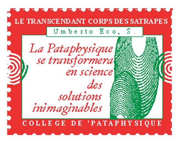 Umberto Eco timbre du Collège de 'Pataphysique