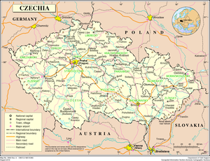 Outline of the Czech Republic - An enlargeable map of the Czech Republic