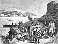 Un poste d'insurgés surveillant l'entrée de la rade de Carthagène.jpg