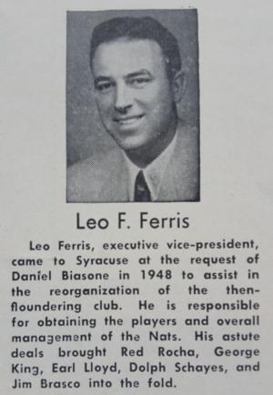 Leo Ferris - Leo F. Ferris