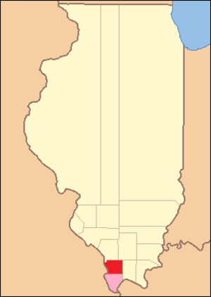 Union County, Illinois - Image: Union County Illinois 1818