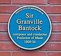 University of Birmingham - Bramall Music Building - blue plaques group - Bantock.jpg