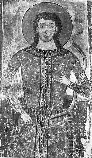 Jovan Dragaš - Fresco depicting Jovan Dragaš, from Beluća.