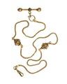Urkedja, av guld med rubiner, 1860-tal - Hallwylska museet - 109867.tif