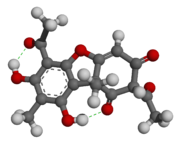 Usnic acid - 3D - Ball-and-stick Model.png