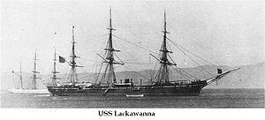 USS Lackawanna (1862) - Image: Uss lackawanna 1880