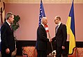 VP Biden meets PM Yatsenyuk in Kyiv, Ukraine, April 22, 2014 (14001260793).jpg
