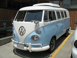 Volkswagen Westfalia Camper finished in blue a...