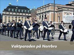 Fil:   Vagtparaden Norrbro 2014-04-21. webm