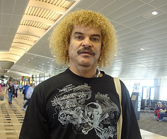 Colombia national football team - Carlos Valderrama, Colombia's most capped player in history.