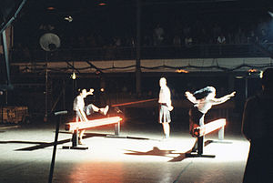 Dick Raaymakers - Performance of The Fall of Mussolini, Westergasfabriek, Amsterdam, May–June 1995