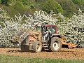 Valtra tractor with Quicke front loader and Howard power harrow 4200114.jpg