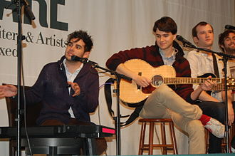 Rostam Batmanglij - Batmanglij (left) with Vampire Weekend