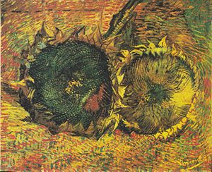 Sunflowers (Van Gogh series) - Sunflowers (F376), Oil on canvas, 50 x 60.7 cm, Museum of Fine Arts Bern