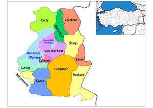Van districts (with Van Gölü).png