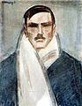 Vaszary Self-portrait with White Scarf c. 1928.jpg