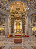 Interior of St. Peter's Basilica in Rome, built between 18 April 1506 and 18 November 1626