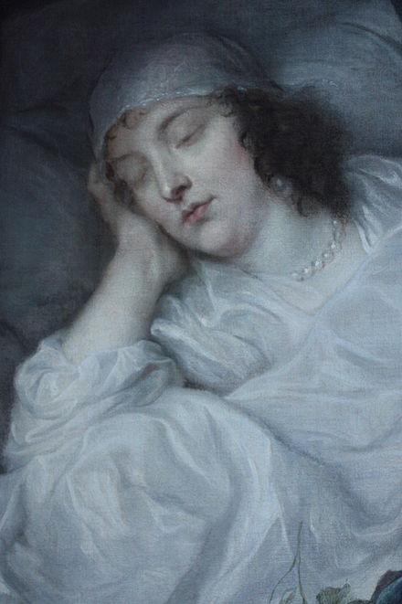 Venetia Stanley on her Death Bed by Anthony van Dyck, 1633, Dulwich Picture Gallery Venetia Stanley on her Death Bed by Anthony van Dyck, 1633, Dulwich Picture Gallery.jpg