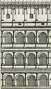 Rilievo dell'Ala superstite dell'anfiteatro, tratto da Verona illustrata di Scipione Maffei.
