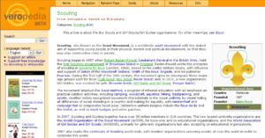 Veropedia - Image: Veropedia screenshot