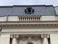 Very beautiful roof window of the house with no. 3 on Cristofor Columb street in Bucharest (Romania).jpg