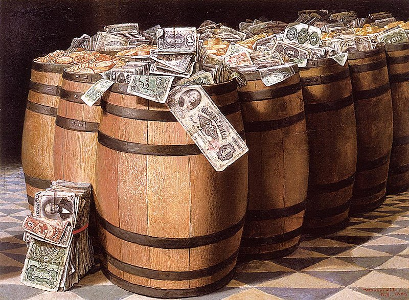 File:Victor Dubreuil - 'Money to Burn', oil on canvas, 1893.jpg