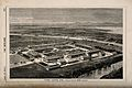 Victoria Hospital, Suez, Egypt; bird's eye view. Wood engrav Wellcome V0014530.jpg