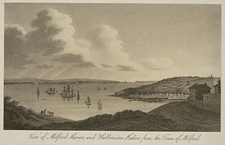 View of Milford Haven, and Hubberston Haken from the town of Milford