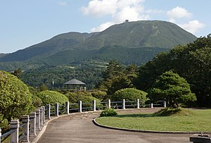 View of Mount HakoneKomagatake from Onshi-Hakone-Koen Park.jpg
