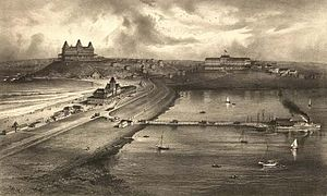 Hull, Massachusetts - View of Nantasket Beach in 1879