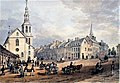 View of The Market Place and Catholic Church, Uppertown, Quebec.jpg