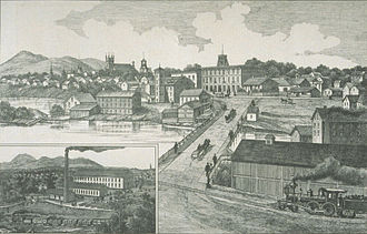 Granby, Quebec - The town of Granby seen in 1883.